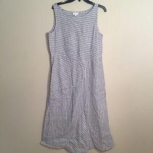J. Jill love linen stripe dress